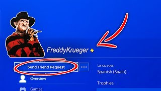 "Do NOT Add ""FREDDY KRUEGER"" Account as a Friend on PS4! (A NIGHTMARE ON ELM STREET)"