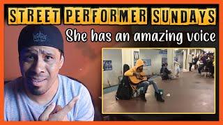 Subway Musician Performs Fleetwood Mac's Landslide - Street Performer Sundays REACTION