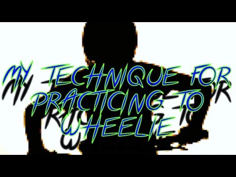 How I'm learning to wheelie on a BMX