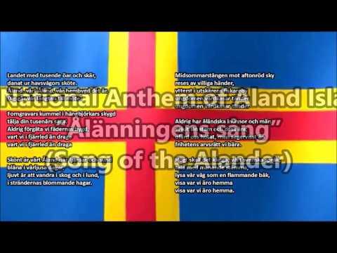 Aland Islands National Anthem with music, vocal and lyrics Swedish w/English Translation