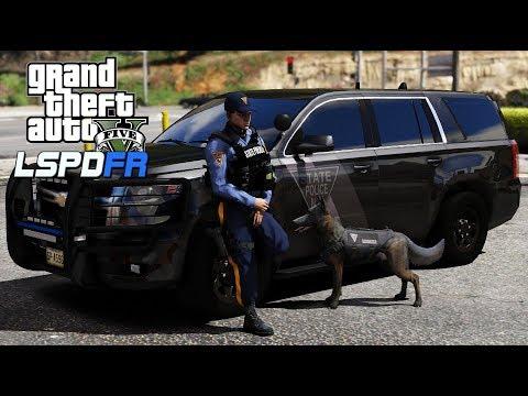 GTA V   LSPDFR   New Jersey State Police K9 Partner Patrol 0 4 2
