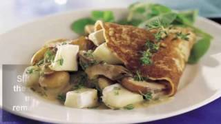 French Recipes : Mushroom and cheese crepes