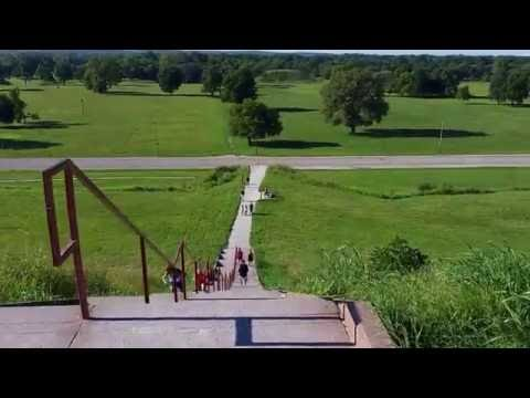 Cahokia Monks Mound Top - August 21, 2016 - Travels with Phil