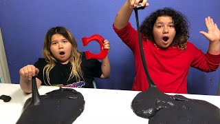 DIY 2 GALLONS OF MAGNETIC SLIME - MAKING GIANT MAGNETIC SLIME WITH ELMERS GLUE ALL