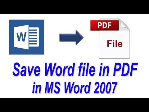 How To Save Word File In PDF File Format In Microsoft Office 2007 | Convert MS Word Documents To PDF