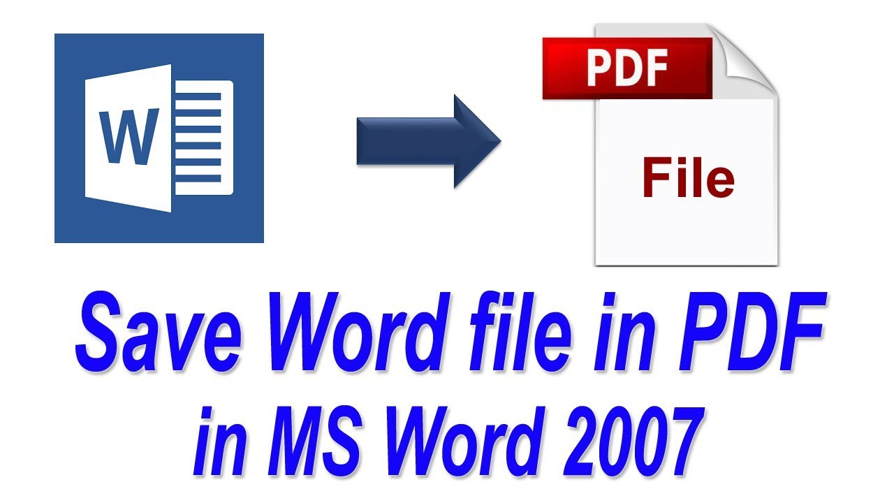 Ms Office 2007 Convert To Pdf