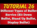 Different Types or Classification of Buffet Service at Restaurant (Tutorial 26)
