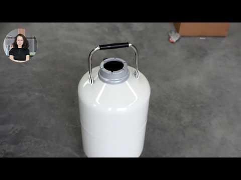 3L Liquid Nitrogen Container LN2 Dewar Liquid Nitrogen Tank