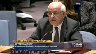 Most Countries Seem To Want Israel To End Occupation Of Palestinian Territory NOW! U.N. Sec Council