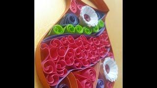 Paper Quilling flower pot | Quilling Flower Vase