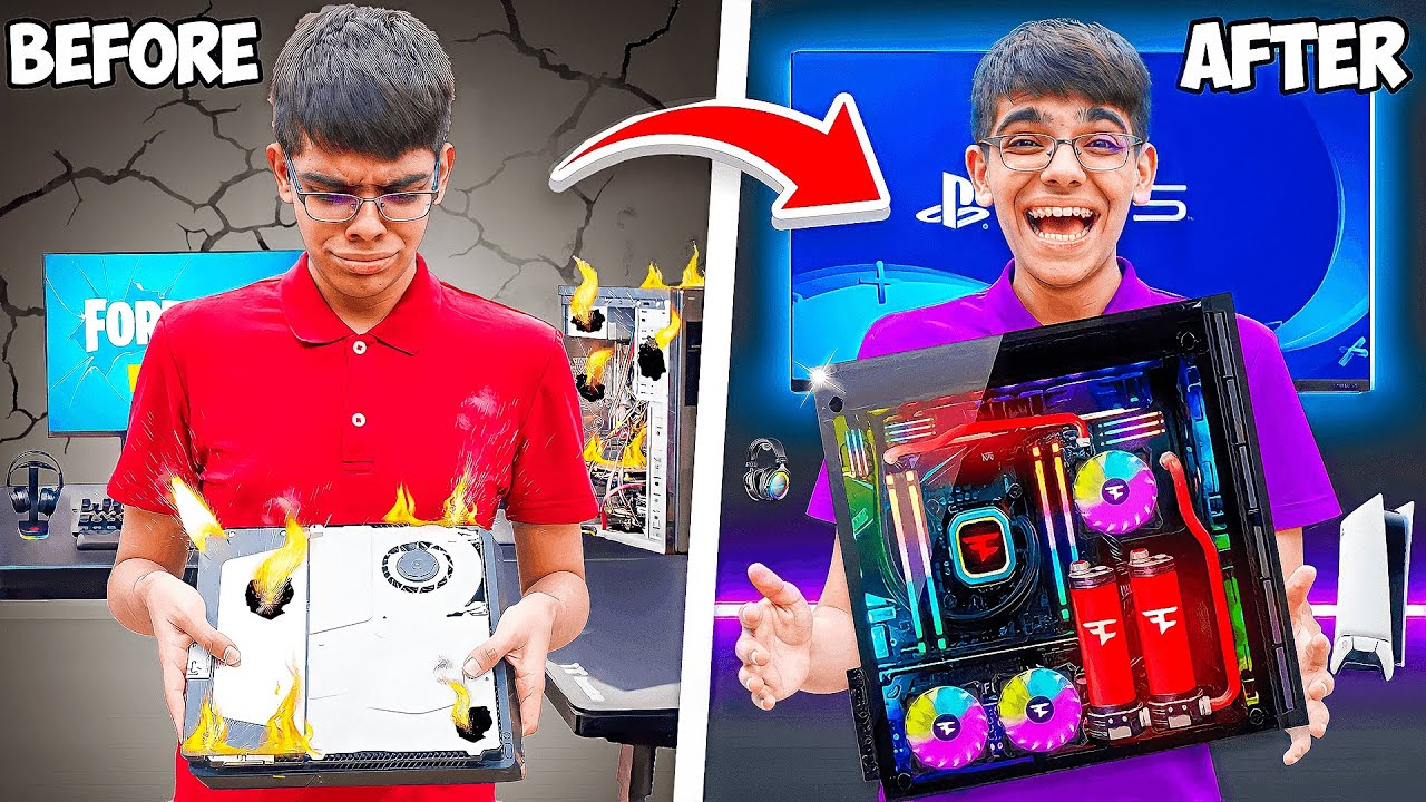 Download I Destroyed His Gaming Setup, Then Surprised Him With His DREAM SETUP!
