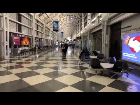 United Airlines Chicago O'Hare International Airport Has Clean Pathrooms