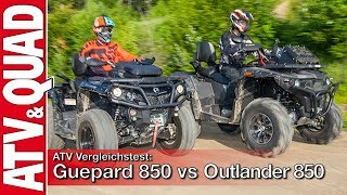ATV Vergleichstest: Stels ATV 850G Guepard Trophy Pro vs Can-Am Outlander Max 850 XT-P