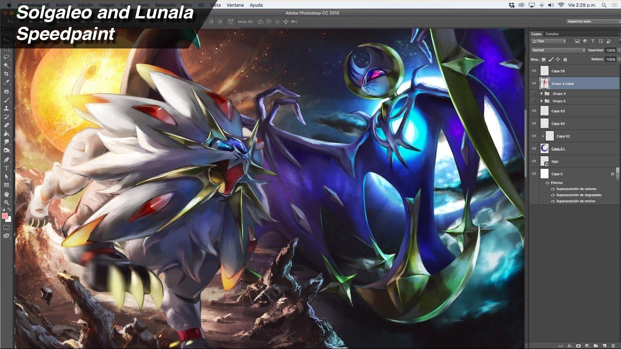 Solgaleo and Lunala - speedpaint