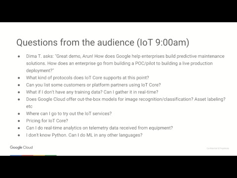 Cloud OnAir: Build Predictive Maintenance Solution with Google Cloud IoT: A  Game-Changer