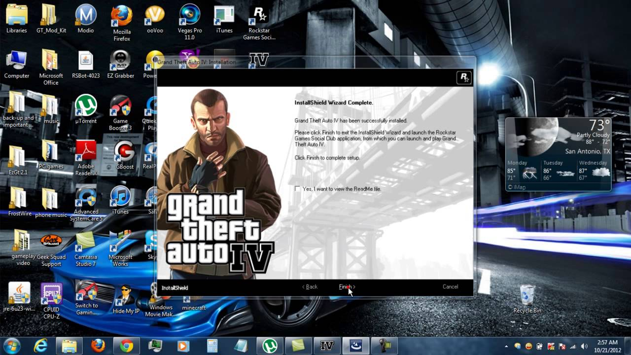 how to get and install grand theft auto iv on your pc for free youtube. Black Bedroom Furniture Sets. Home Design Ideas