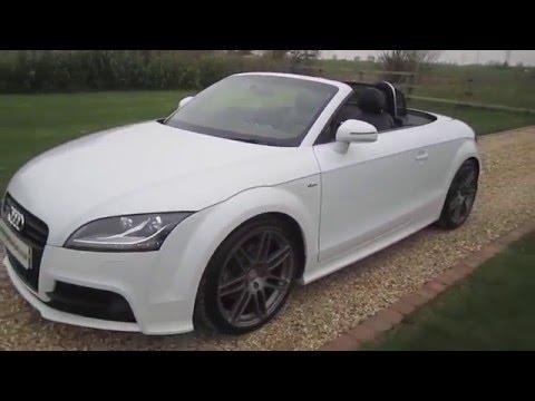 Audi Tt Roadster 20 Tdi Quattro S Line Black Edition In White Youtube