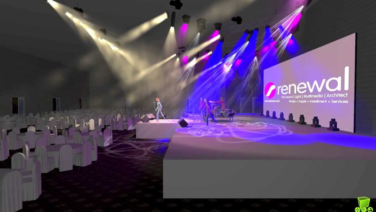 Hotel ballroom stage lighting design youtube for Stage 47 designhotel
