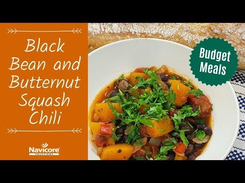 Budget Meals: Black Bean and Butternut Squash Chili