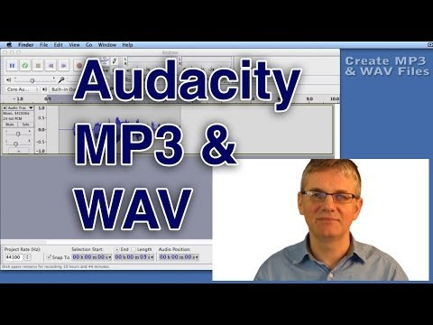 Audacity Tutorial How to Save a WAV or MP3 File | Export Sound Format Tutorial