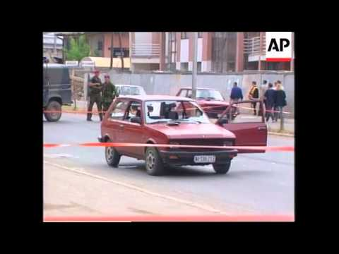 Yugoslavia: Kosovo: Pristina: Sniper Shoots Serb - 1999