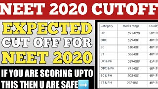 NEET 2020 EXPECTED CUTOFF||NEET 2020 CUTOFF MARKS FOR GOVERNMENT COLLEGE||CUTOFF FOR MBBS IN 2020