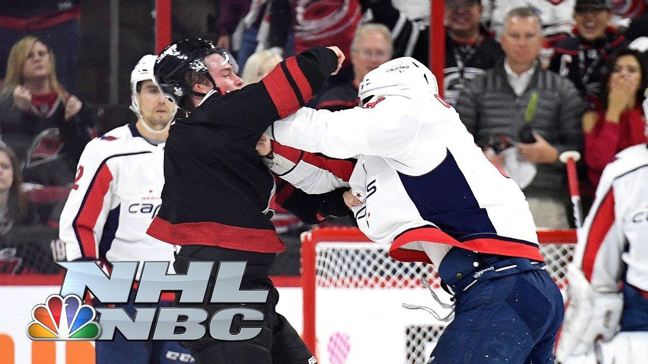 Capitals' Alex Ovechkin, Hurricanes' Brind'Amour react to Svechnikov fight | NHL | NBC Sports