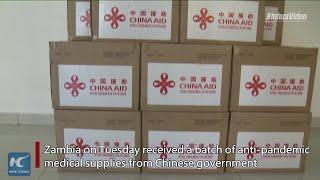 China donates medical supplies to Zambia