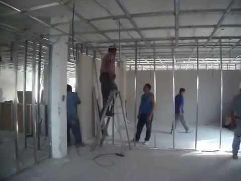 Instalaci n de canal para muros y plafon de tablaroca - Instalacion de pladur en paredes ...