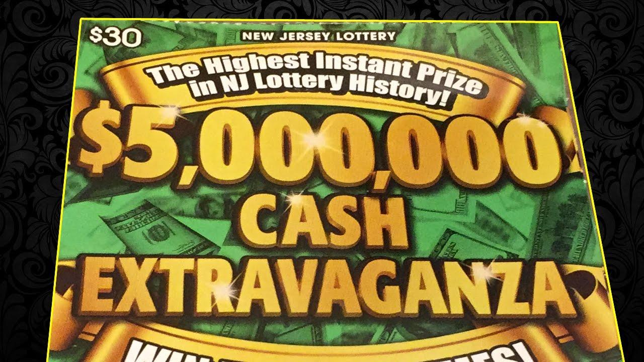 5 000 000 Cash Extravaganza Winner Nj Lottery Scratch Off Youtube