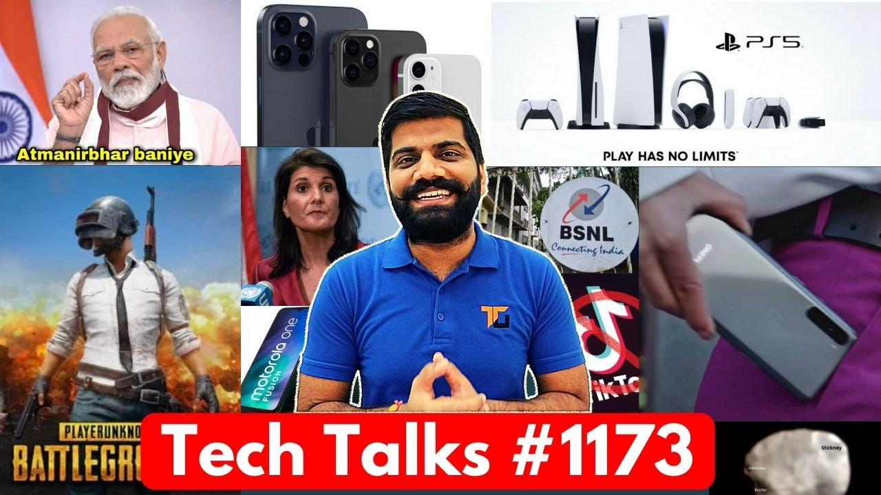 Tech Talks #1173 - PS5 India Launch, PM Modi Challenge, PUBG 16 Lakh Loss, NORD First Look, iPhone12