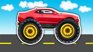 Red Monster truck BUILD WITH Puzzles