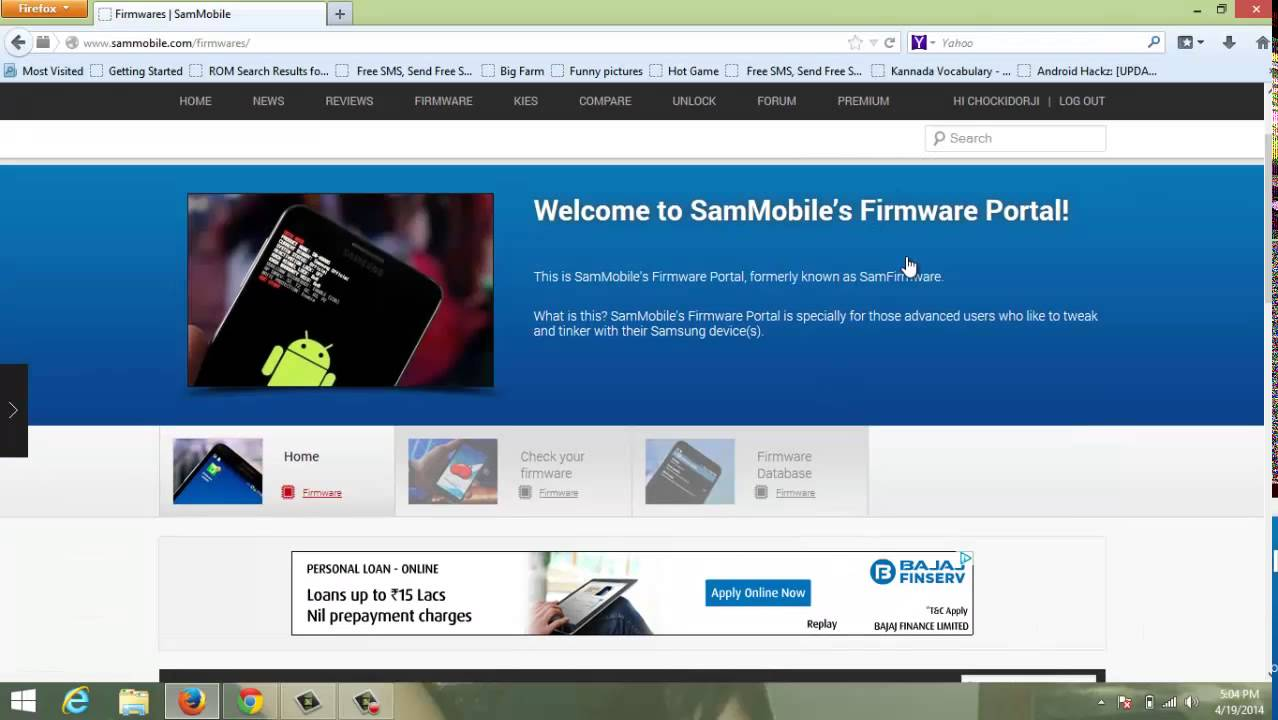 HOW TO DOWNLOAD FIRMWARE FROM SAMMOBILE - YouTube