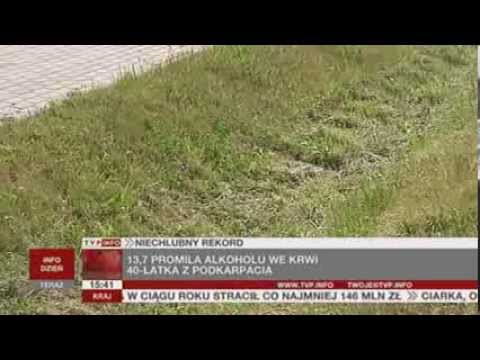 13,7 promila alkoholu we krwi (TVP Info, 08.08.2013)