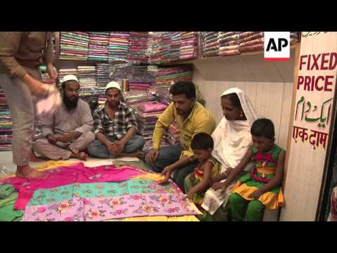 muslims across india shop for clothes ahead of eid