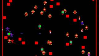 Robotron (Solid Blue label) - Robotron gameplay 60 fps - User video