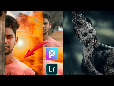 horror photo editing tutorial in picsart // picsart editing tutorial // by sd editing thumbnail