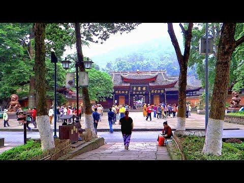 峨眉山報國寺明代雕刻的石獅 Bao Guo Temple Emeishan, Sichuan (China)