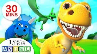 Somos os Dinossauros, Bebê T-Rex e Mais! | Especial do Dino | Little Angel
