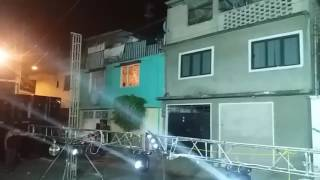 Sonido Mister Zamba con los Pepes Lomas de Zargoza Probando audio e iluminacion
