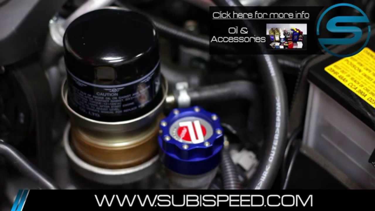 SubiSpeed - 2015 Subaru WRX Oil Change DIY - YouTube
