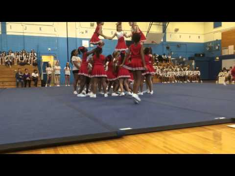 I.S. 318 cheerleading 2nd place John Bowne high school competition