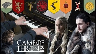 Game of Thrones - Noble Houses Piano Medley (8 House Themes) + FREE SHEETS/MIDI