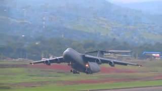 USAF Lockheed C-5 Galaxy - Takeoff from Tocumen