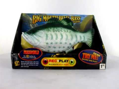 Big mouth billy bass singing fish take me to the river for Talking bass fish