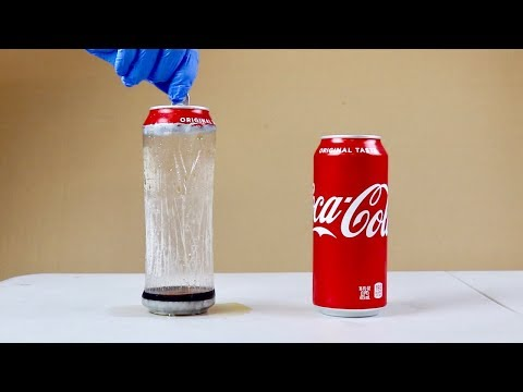 removing-coke-can-from-coke---aluminum-soda-can-and-drain-cleaner-experiment