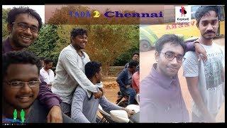 Traveling To sathyabama university, chennai | With Classmate | Student in Tada waterfalls , India.