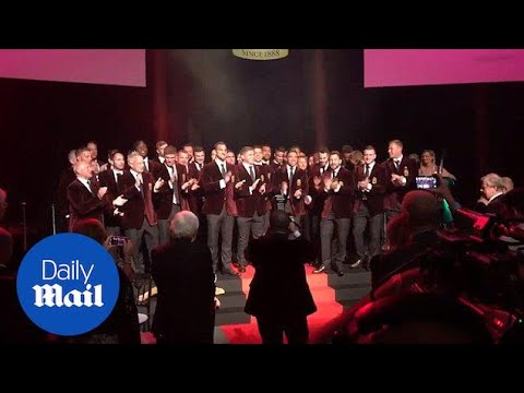 The British & Irish Lions sing Fields of Athenry at Farewell Dinner - Daily Mail