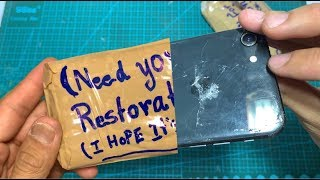Restoration Destroyed iPhone 8 | Rebuild broken smartphone | New restore broken iPhone 2020