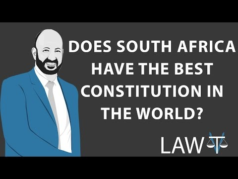 Is South Africa's Constitution the best in the world?